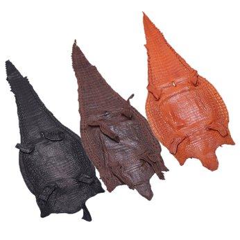 HH1221-23-24 - Da thuộc da cá sấu mổ lưng nhiều màu