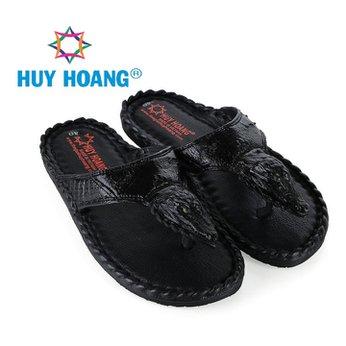 HH7237 - Dép nam Huy Hoàng đầu cá sấu màu đen