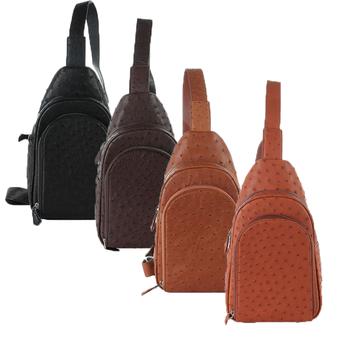 Túi đeo trước nam da đà điểu nhiều màu HH6443-44-45-46