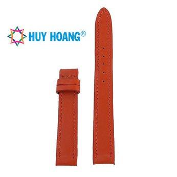 HH8106 - Dây đồng hồ da bò Huy Hoàng màu cam