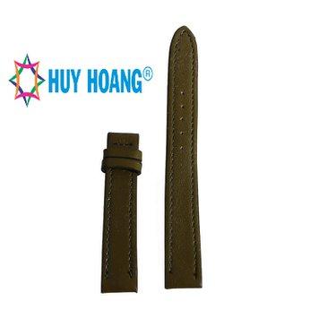 HH8109 - Dây đồng hồ da bò Huy Hoàng màu rêu size nhỏ