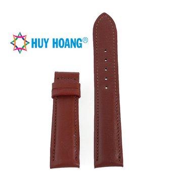 HH8118 - Dây đồng hồ da bò Huy Hoàng màu nâu đỏ