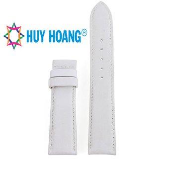 HH8119 - Dây đồng hồ da bò Huy Hoàng màu trắng