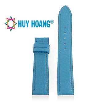 HH8125 - Dây đồng hồ da bò Huy Hoàng màu xanh da trời