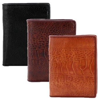 Bóp nam da đà điểu da trơn kiểu đứng nhiều màu HH2420-22-23