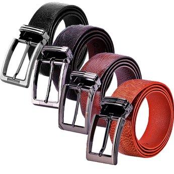 Dây nịt nam da đà điểu trơn đầu kim nhiều màu HH4413-14-15-16
