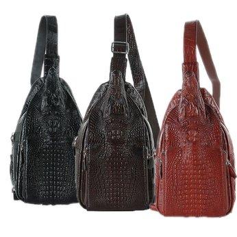 Túi đeo trước nam Huy Hoàng đầu cá sấu màu đen nhiều màu HH6289-90-92