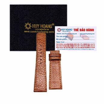 Dây đồng hồ da đà điểu Huy Hoàng màu vàng HH8403