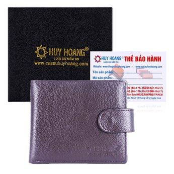 Bóp nam Huy Hoàng bấm nút màu nâu HH2143