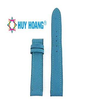 HH8111 - Dây đồng hồ da bò Huy Hoàng màu xanh da trời size nhỏ