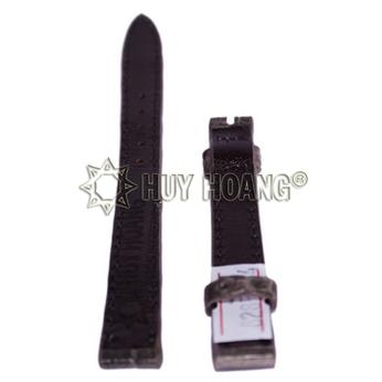 HH8290 - Dây đồng hồ Huy Hoàng da cá sấu màu xám