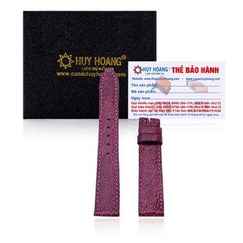 Dây đồng hồ Huy Hoàng da đà điểu màu tím HH8408