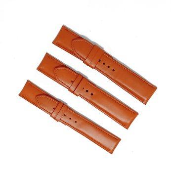 HH8134 - Dây đồng hồ da bò Huy Hoàng màu cam size lớn