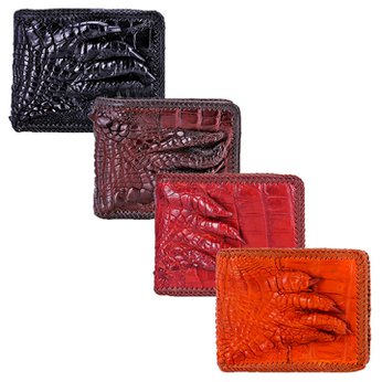 Bóp nam da cá sấu đan viền gù chân nhiều màu HH2716-17-18-19