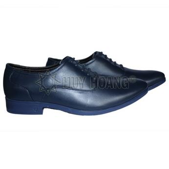 HH7505 - Giày tây nam Huy Hoàng cột dây màu xanh đậm