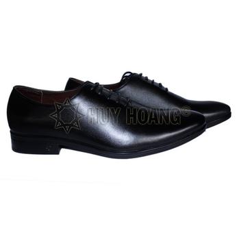 HH7501 - Giày tây nam Huy Hoàng cột dây màu đen