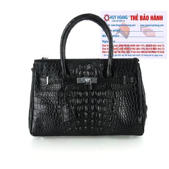 Túi xách nữ da cá sấu Huy Hoàng sang trọng màu đen HH6297