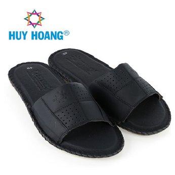 Dép nam Huy Hoàng màu 1 quai màu đen HH7776
