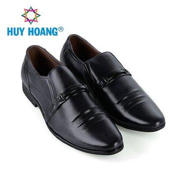 HH7780 - Giày tây nam Huy Hoàng da bò cao cấp màu đen