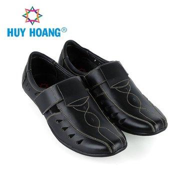 HH7784 - Giày rọ nam Huy Hoàng da bò màu đen