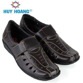 HH7785 - Giày rọ nam Huy Hoàng da bò màu nâu