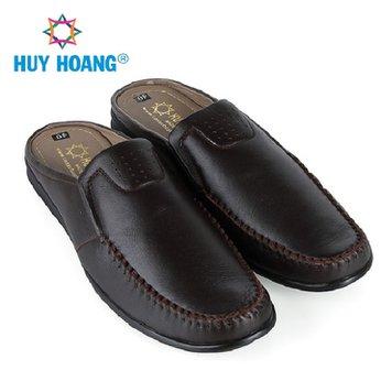 HH7797 - Giày sabo nam Huy Hoàng màu nâu