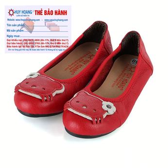 Giày trẻ em nữ Huy Hoàng da bò màu đỏ HH7861
