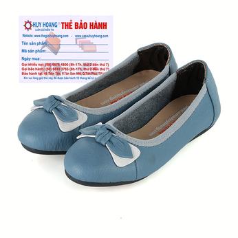 Giày trẻ em nữ Huy Hoàng da bò màu xanh HH7862