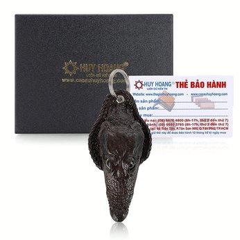 Móc khóa Huy Hoàng đầu cá sấu màu nâu đất HH8219