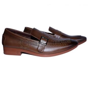 HH7504 - Giày tây nam Huy Hoàng màu nâu đỏ