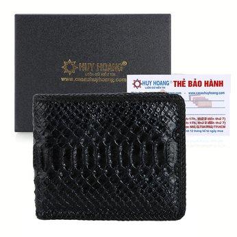 Bóp nam Huy Hoàng da trăn đan viền màu đen HH2313