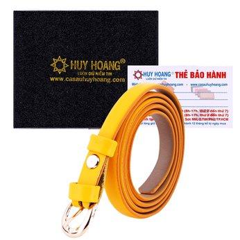 Thắt lưng nữ da thật Huy Hoàng cỡ nhỏ màu vàng HH5146