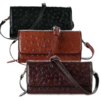 Túi đeo nữ da đà điểu da chân nhiều màu HH6423-24-26