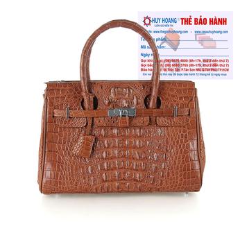 Túi xách nữ da cá sấu Huy Hoàng sang trọng màu nâu đỏ HH6298