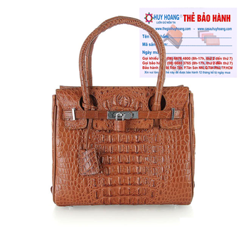 Túi xách nữ da cá sấu Huy Hoàng mini sang trọng màu nâu đỏ HH6294