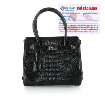 Túi xách nữ da cá sấu Huy Hoàng mini sang trọng màu đen HH6293