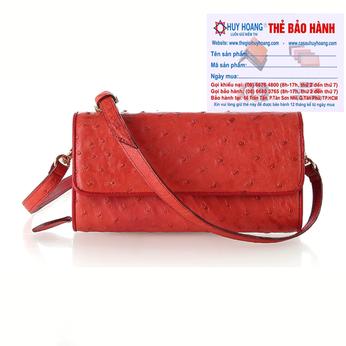 Túi đeo da đà điểu Huy Hoàng da bụng màu đỏ HH6427
