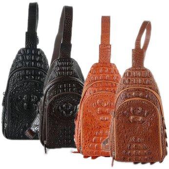 Túi đeo trước nam Huy Hoàng da cá sấu nhiều màu HH6285-86-87-88