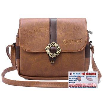 Túi xách phối viền Huy Hoàng 1 khóa màu bò nhạt HH6157