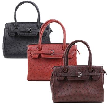 Túi xách nữ da đà điểu cao cấp nhiều màu HH6401-02-04