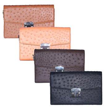 Túi cầm tay nữ Huy Hoàng da đà điểu nhiều màu HH6451-52-53-54