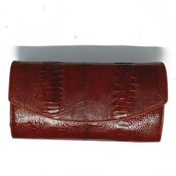 Túi đeo nữ da đà điểu da chân màu nâu đỏ HH6417