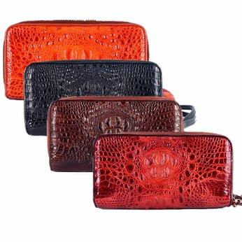 Bóp da cá sấu 2 khóa nguyên con nhiều màu HH3260-61-62-63