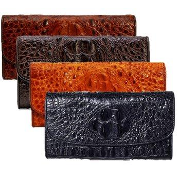 Bóp da cá sấu 3 gấp nguyên con nhiều màu HH3204-05-06-19