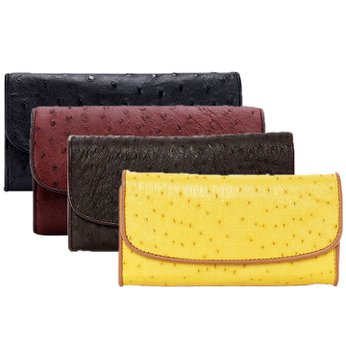 Bóp da đà điểu 3 gấp nhiều màu HH3403-04-05-06