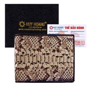 Bóp nam da trăn Huy Hoàng màu da nguyên thủy HH2301