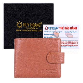 Bóp nam Huy Hoàng bấm nút màu da HH2141