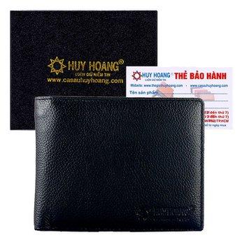 Bóp nam Huy Hoàng cao cấp màu đen HH2114