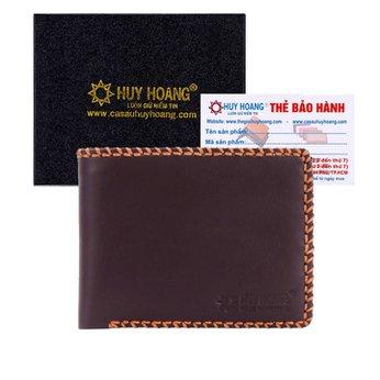 Bóp nam Huy Hoàng đan viền màu nâu HH2136