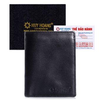 Bóp nam Huy Hoàng kiểu đứng màu đen HH2108
